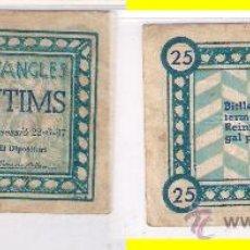 Billetes locales: L128-BILLETE LOCAL. ANGLÉS. 25 CÉNTIMOS. 1937. RC.. Lote 37564401