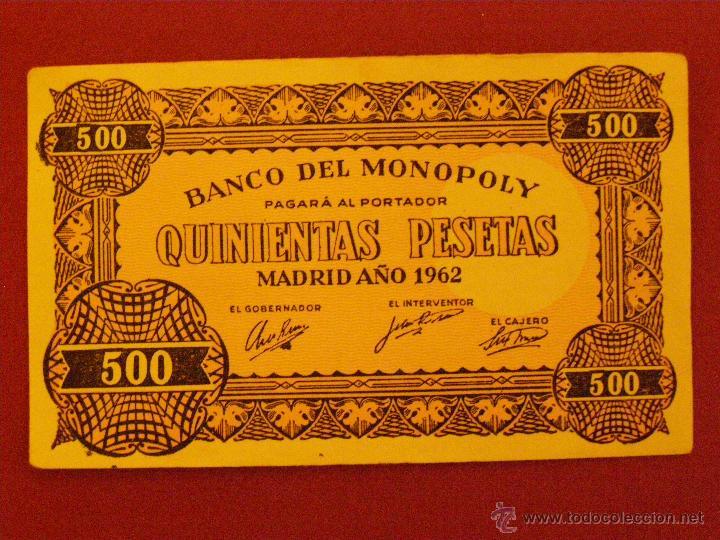 BILLETE MONOPOLY - 500 PESETAS - MADRID AÑO1962 - (Numismática - Notafilia - Billetes Locales)