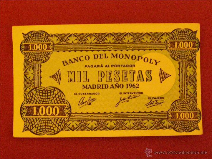 BILLETE MONOPOLY - 1000 PESETAS - MADRID AÑO 1962 - (Numismática - Notafilia - Billetes Locales)