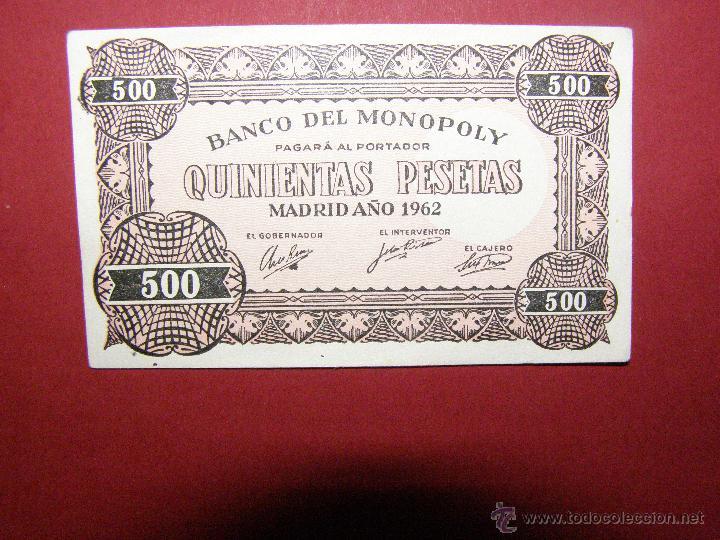 Billetes locales: Billete Monopoly - 500 Pesetas - Madrid Año1962 - - Foto 3 - 40392557