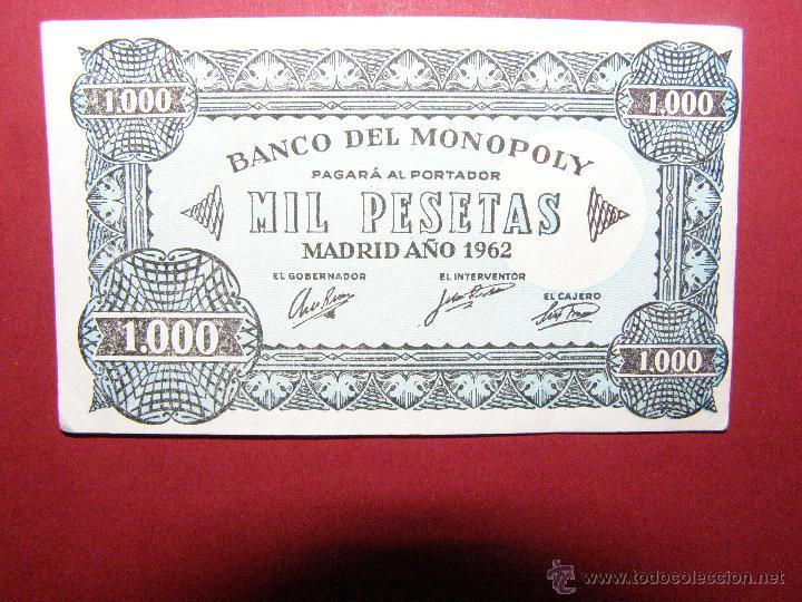Billetes locales: Billete Monopoly - 1000 pesetas - Madrid Año 1962 - - Foto 3 - 40392561