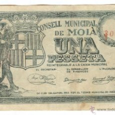 Billetes locales: BILLETE LOCAL MOIÀ (BARCELONA) 1 PESETA. Lote 40468706