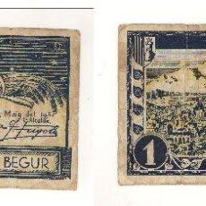 Billetes locales: BILLETE LOCAL DE BEGUR UNA PESETA DE 1937. RC- CATÁLOGO: TURRÓ-415. (L16).. Lote 40615373