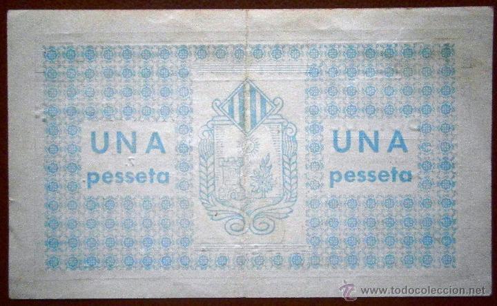 Billetes locales: Solsona 1937 Bono de1 Peseta Guerra Civil Ver Fotos - Foto 2 - 41194038