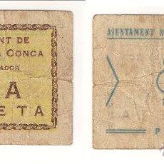 Billetes locales: BILLETE LOCAL DE BARBERÁ DE LA CONCA DE 1 PESETA . MUY RARO. BC. CATÁLOGO TURRÓ-366. (L15).. Lote 41630982