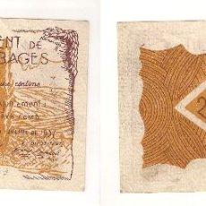 Billetes locales: BILLETE LOCAL DE RIUDOR DE BAGES DE 25 CÉNTIMOS DE 1937. ESCASO. EBC+ CATÁLOGO TURRÓ-2510. (L185).. Lote 41664365