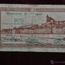 Billetes locales: BILLETE DEL AYUNTAMIENTO DE BALAGUER. 50 CENTIMOS DEL AÑO 1937. GUERRA CIVIL. Lote 41703070