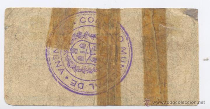 Billetes locales: SARIÑENA- CONSEJO MUNICIPAL- 1 PESETA - Foto 2 - 42675407