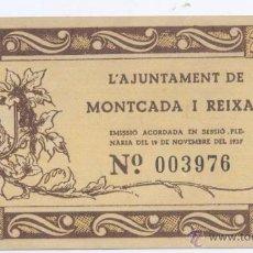 Billetes locales: MONTCADA I REIXAC-AYUNTAMIENTO- 25 CENTIMOS-01-11-1937. Lote 42758911