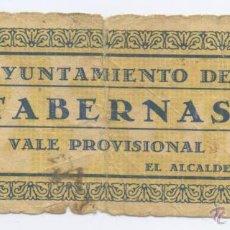 Billetes locales: TABERNAS- ALMERIA- AYUNTAMIENTO- 25 CENTIMOS. Lote 46084547