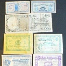 Billetes locales: 9 BILLETES LOCALES GUERRA CIVIL. Lote 46500458