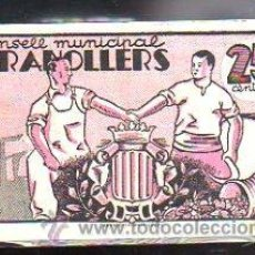 Billetes locales: BILLETE. GUERRA CIVIL. CONSELL MUNICIPAL DE GRANOLLERS, BARCELONA. 25 CENTIMOS. Lote 48175273