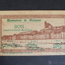 Billetes locales: BILLETE LOCAL BALAGUER 50CTS. Lote 50712614