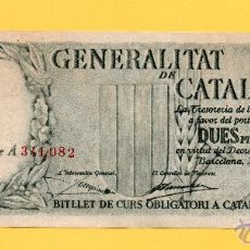 Billetes locales: BILLETE 2,50 PESETAS GENERALIDAD CATALUÑA GUERRA CIVIL GENERALITAT CATALUNYA PESSETES NUMEROS ROJO. Lote 51039963