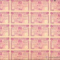 Billetes locales: HOJA 25 BILLETES 25 CÉNTIMOS 8 NOVIEMBRE 1937 CONSEJO MUNICIPAL DE ALBACETE. . Lote 52708380