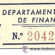 Billetes locales: B356 CONSELL MUNICIPAL DE FLIX (TARRAGONA). DPT. DE FINANCES. 5 CÉNTIMOS. CARTÓN. EN. Lote 36484000