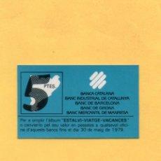 Billetes locales: VALE 5 PESETAS BANCA CATALANA BANCO INDUSTRIAL CATALUÑA BARCELONA GIRONA GERONA MERCANTIL MANRESA. Lote 53416895