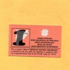 Billetes locales: VALE 1 PESETA BANCA CATALANA BANCO INDUSTRIAL CATALUÑA BARCELONA GIRONA GERONA MERCANTIL MANRESA. Lote 53416929