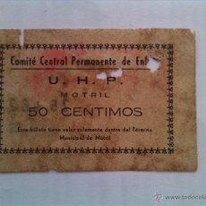 Billetes locales: BILLETE LOCAL DE MOTRIL ( GRANADA ). Lote 54072519