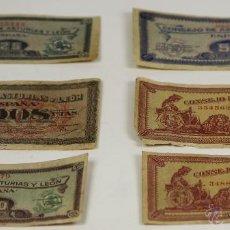 Billetes locales: BI-015 - LOTE DE 6 BILLETES(VARIOS VER DESCRIP). CONSEJO DE ASTURIAS Y LEÓN. 1936-37.. Lote 54248162