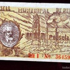 Billetes locales: BILLETE DEL CONSELL MUNICIPAL DE REUS. 1 PESETA DEL AÑO 1937. GUERRA CIVIL. Lote 56075582