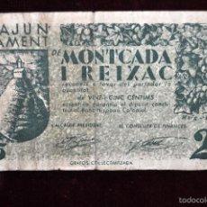 Billetes locales: BILLETE DEL AYUNTAMIENTO DE MONTCADA I REIXAC. 25 CENTIMOS DEL AÑO 1937. GUERRA CIVIL. Lote 56092595