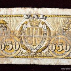 Billetes locales: BILLETE DEL AYUNTAMIENTO DEL BAIX MONTSENY. 50 CENTIMOS. GUERRA CIVIL. Lote 56381807