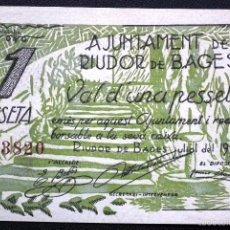 Billetes locales: BILLETE LOCAL RIUDOR DE BAGES 1 PTA. SIN CIRCULAR.. Lote 56558448