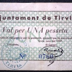 Billetes locales: BILLETE LOCAL TIRVIA 1 PTA.. Lote 56600135