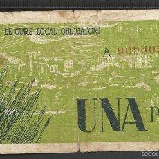 Billetes locales: 1 PESETA - PUIGCERDA. Lote 58192354