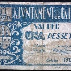 Billetes locales: BILLETE LOCAL CALELLA 1 PTA.. Lote 61033695