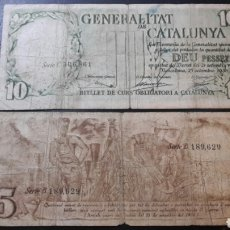 Billetes locales: SERIE COMPLETA 4 BILLETES GENERALITAT DE CATALUÑA CATALUNYA. Lote 62002991