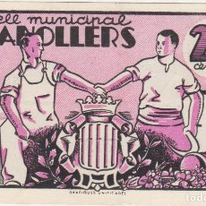Billetes locales: BILLETES LOCALES - GRANOLLERS - BARCELONA - 25 CTS. 1937 - T-1356 (EBC). Lote 67418277