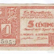 Billetes locales: BILLETE LOCAL GRAUS (HUESCA) 5 CÉNTIMOS 3ª EMISIÓN. Lote 70088301