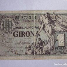 Billetes locales: PESETA DE GIRONA. ABRIL 1937.. Lote 71020377