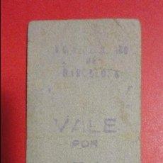 Billetes locales: F.C METROPOLITANO TRANSVERSAL.BARCELONA.VALE POR 5 CENTIMOS.. Lote 77665953