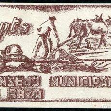 Billetes locales: BAZA (GRANADA) - 1 PESETA 1937 - SIN FECHA. Lote 80741546