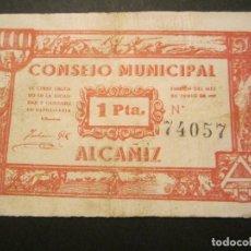 Billetes locales: 1 PESETA DE ALCAÑIZ (TERUEL) 2ª EMISIÓN. Lote 84816180