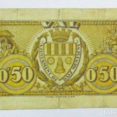 Billetes locales: BAIX MONTSENY (SANT CELONI)-BARCELONA, 50 CÉNTIMOS EMISIÓN GUERRA CIVIL. LOTE 0540. Lote 86263316