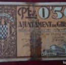 Billetes locales: 50 CÉNTIMOS GERONA, GIRONA, JUNIO 1937. Lote 86485060