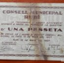 Billetes locales: 1 PESETA RUBÍ,MAYO 1937. Lote 86531524