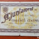 Billetes locales: 50 CÉNTIMOS, SEU D`URGELL, JUNIO 1937. Lote 86532444