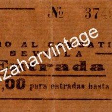Billetes locales: SUBSIDIO AL COMBATIENTE - COMISIÓN PROVINCIAL DE SEVILLA, ENTRADAS - 1 PESETA. Lote 86536100