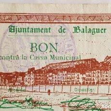 Billetes locales: F 1773 1BILLETE 50 CENTIMOS AJUNTAMENT BALAGUER OJO CON TIMBRE AZUL RARO DE ENCONTRAR, AGOSTO T-342. Lote 86066864