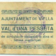 Billetes locales: 1 PESETA DEL AYUNTAMENY DE VIELLA. Lote 93379690