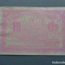 Billetes locales: SONSECA CON CASALGORDO. TOLEDO. 10 CÉNTIMOS. . Lote 95036119