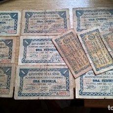 Billetes locales: LA SENIA. GUERRA CIVIL. LOTE DE 12 BILLETES. Lote 95585559