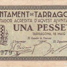 Banconote locali: BILLETE DE 1 PESETA DEL AJUNTAMENT DE TARRAGONA DEL AÑO 1937. Lote 97244207