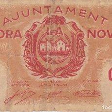 Billetes locales: BILLETE DE 1 PESETA DEL AJUNTAMENT DE MORA LA NOVA DEL AÑO 1937. Lote 97462971