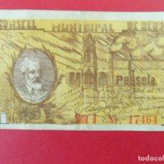 Billetes locales: BILLETE LOCAL - UNA PESETA - CONSELL MUNICIPAL DE REUS (TARRAGONA) .. R-7657. Lote 99460407